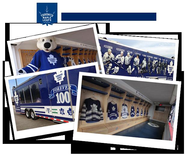 Collage of Maple Leaf Fan Zone