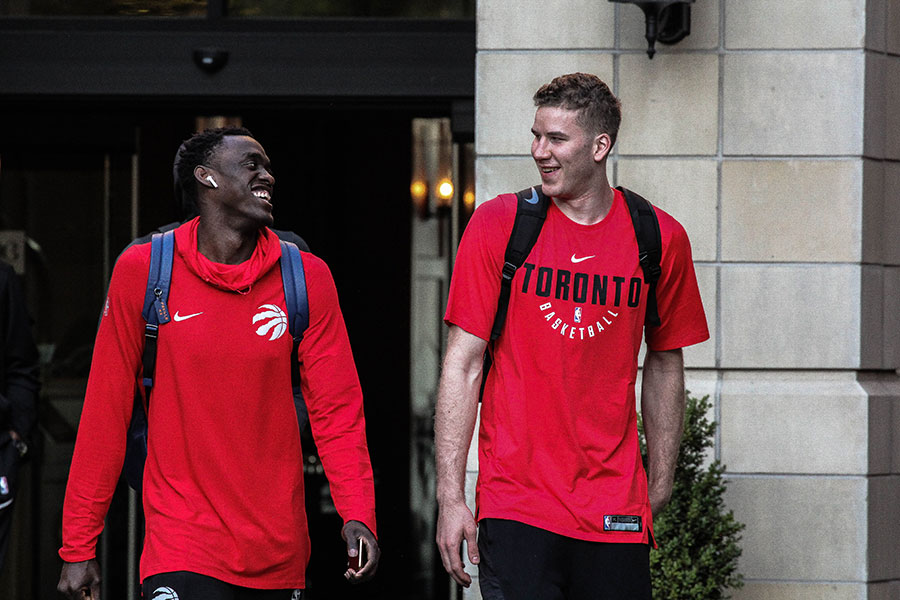 Pascal Siakam and Jakob Poeltl