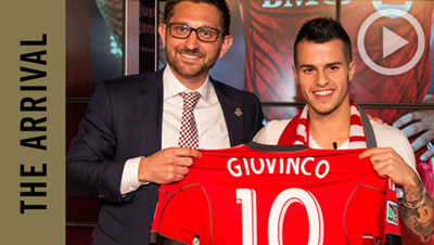 Sebastian Giovinco Arrives in Toronto