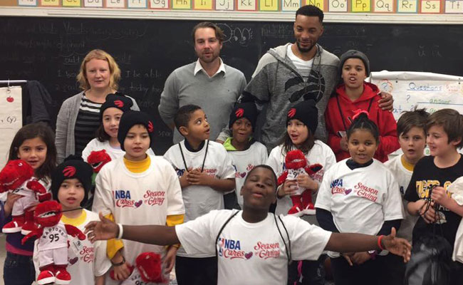 Norman Powell at Boys and Girls Club